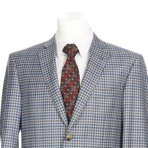 Pal Zileri Full Canvas Blue Gray Wool Sport Coat